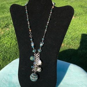 Beautiful turquoise ball necklace